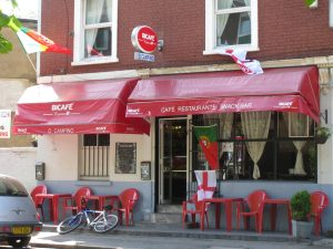 Café in Little Portugal, Stockwell (London) (image (c) Howtogetfluent.com)