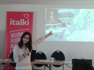 Irina Pravet of languagecatalyst.com shows off her wheels.