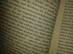 Yes, that's a gratuitous shot of some German prose, but not any old German prose, oh no. Step forward, Herr Thomas Mann.