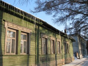 A traditional wooden house. Learn Russian and connect with an old culture