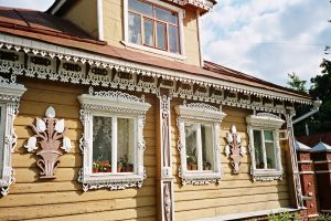 A traditional Russian peasant house