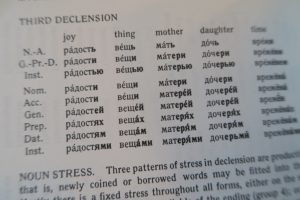 The third declension of Russian nouns