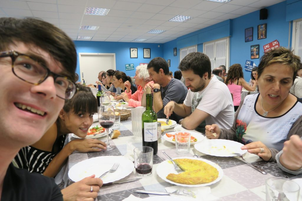 In the canteen at the Maizpide Basque residential school