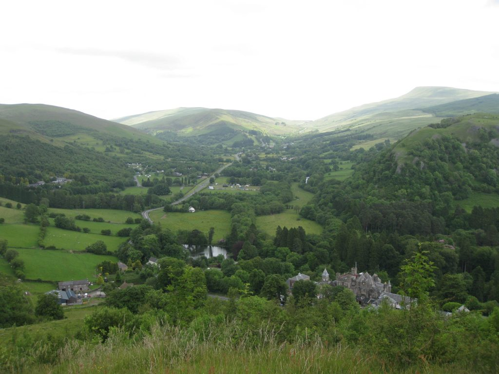 A vale in Wales