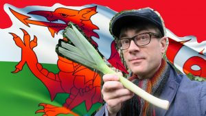 Leek and Welsh flag