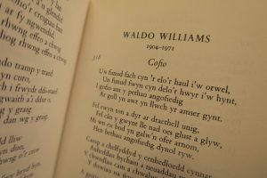 A page of Welsh poetry