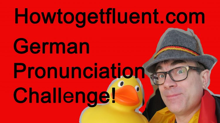 German pronunciation challenge! (video)