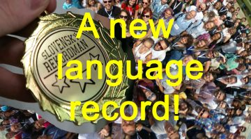 A new language record! (video from the Polyglot Gathering)