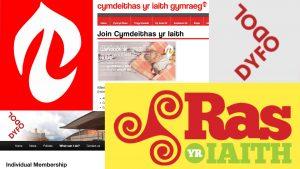 Welsh language group logos