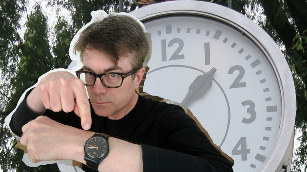 German expressions of time. Dr P illustrates (clock and watch)