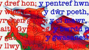 Y ddraig goch The Welsh flag illustrates Welsh noun gender