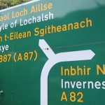 Scottish Gaelic bilingual road sign