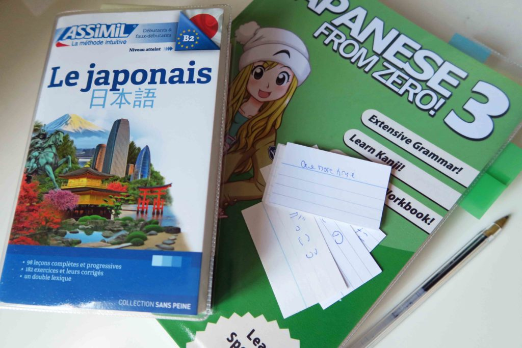 Japanese language textbooks: Assimil Le Japonais and Japanese from Zero Book 3