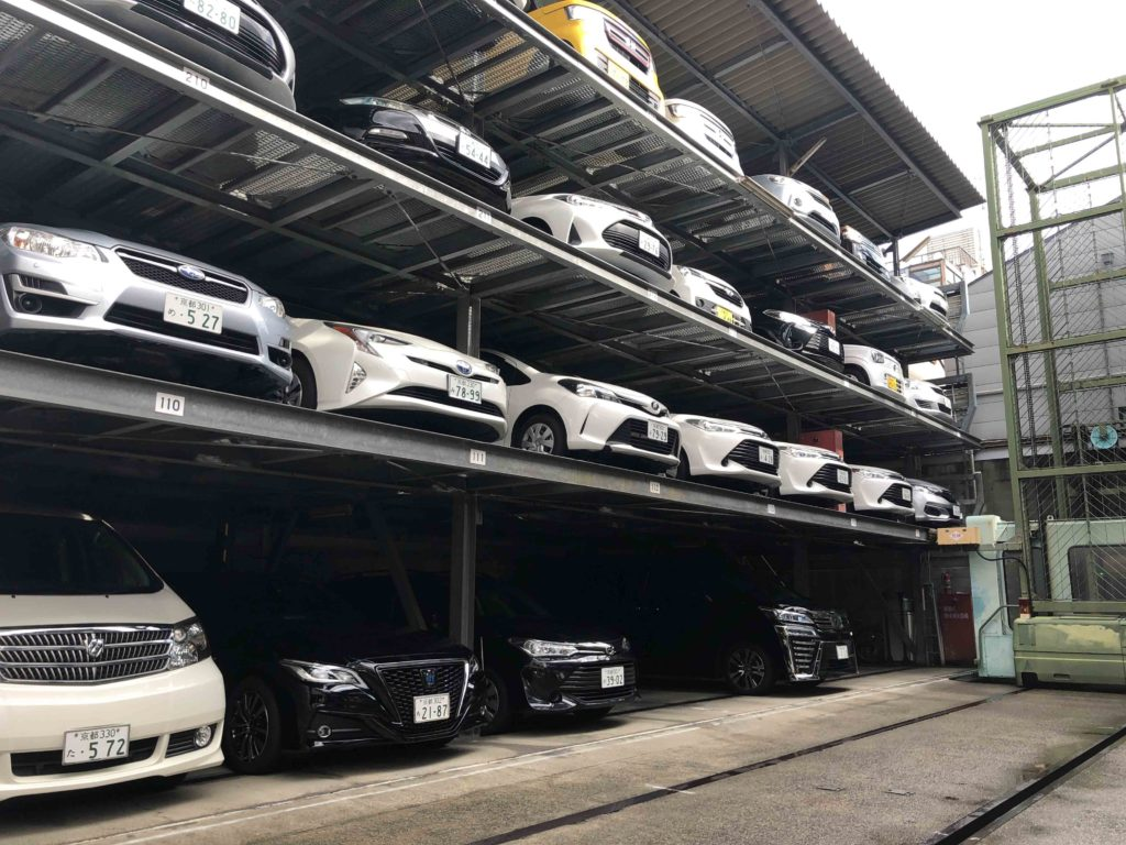 Japanese cars stacked up