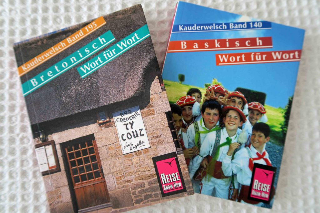 Kauderwelsh pharsebooks - Breton, Basque. Great minority language resources
