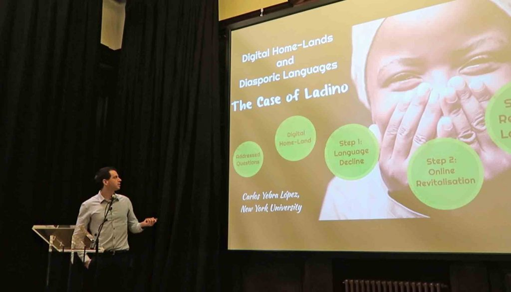 Carlos Lopez talks about digital diasporas and Ladino language revival at the Language Event: Edinburgh