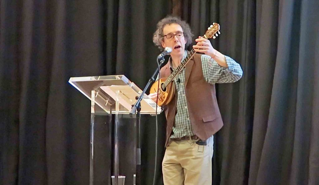 Mark Atherton sings Old English poetry at the Language Event: Edinburgh