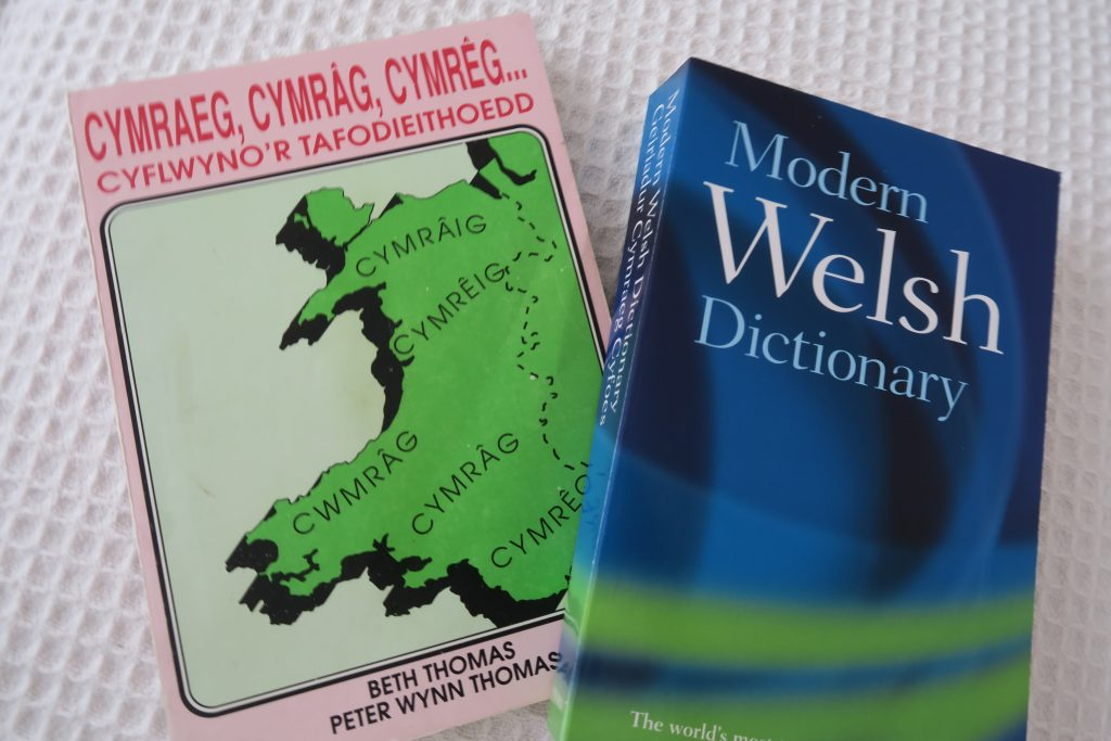 Dialect differences in Welsh and a Welsh dictionary