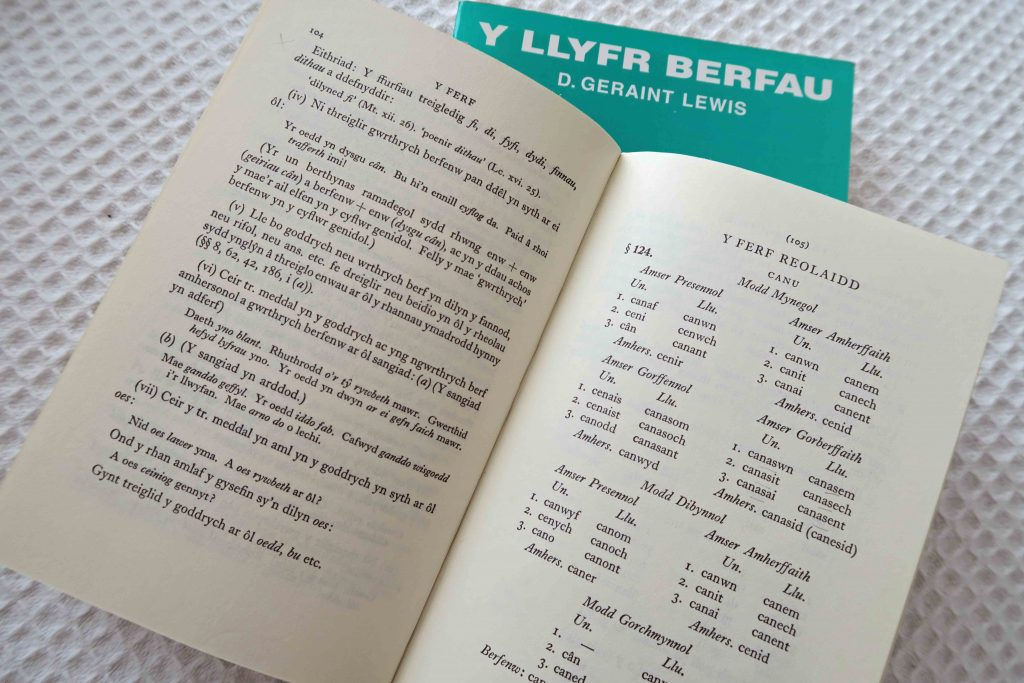 Books explaining the forms of the Welsh verb