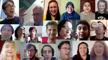 Polyglot Gathering Online participants montage