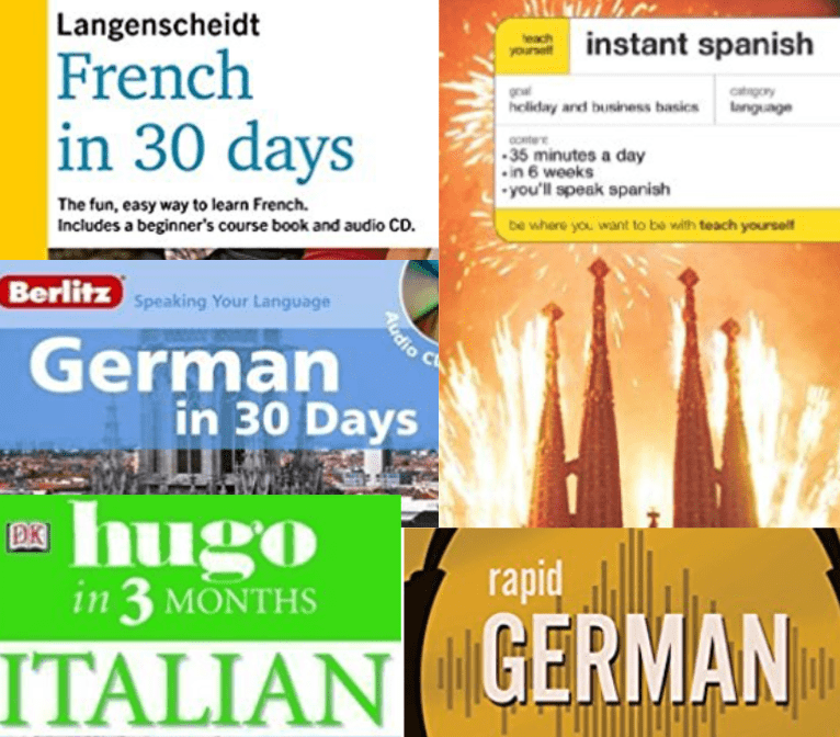How long to learn a language? Book cover claims