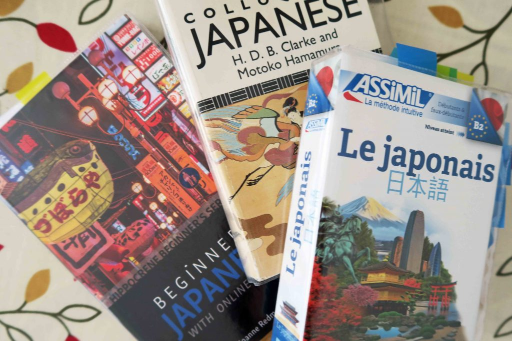 Beginners Japanese, Colloquial Japanese and Assimil Le Japonais course books